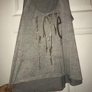 Ransom Tops - Women's gray tank top